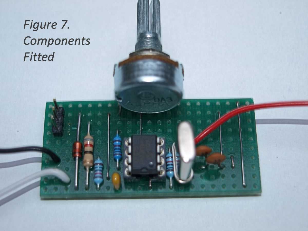 Electronic Project Easy Build Servo Tester Aeromodellers Forum How To Simple Matrixboard Fig7